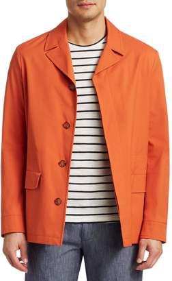 Saks Fifth Avenue COLLECTION Notch Collar Rain Coat