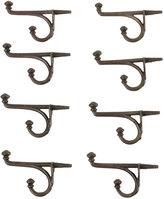 Rejuvenation Set of 8 Button-Tip Cast Iron Hooks W/ Integral Screw C1900