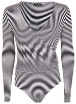 Topshop Long Sleeve Stripe Drape Body