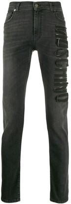 Moschino Slim-Fit Logo Jeans