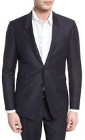 Burberry Wool-Blend Two-Button Jacket, Indigo