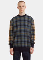 Stella Mccartney Dropped Shoulder Checked Knit Sweater In Multicolour