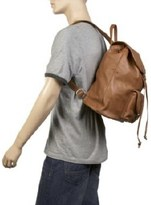 Leatherbay Leather Backpack w/One Pocket