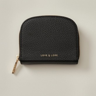 Love & Lore Love And Lore Coin Purse With Mirror Black
