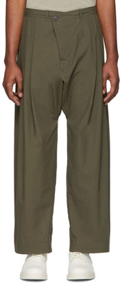 Jan-Jan Van Essche Green Organic Cotton Trousers
