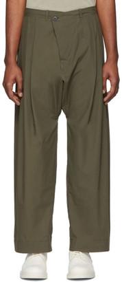 Jan Jan Van Essche Jan-Jan Van Essche Green Organic Cotton Trousers
