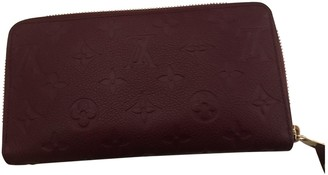 Louis Vuitton Zippy Burgundy Leather Wallets