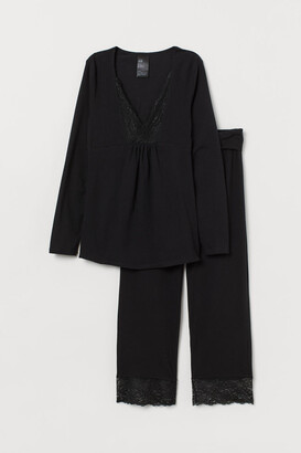 H&M MAMA Nursing Pajamas - Black