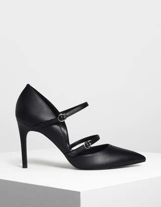 Charles & Keith Double Strap Mary Jane Heels