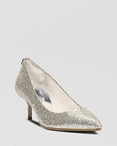 Silver Kitten Heel Shoe - ShopStyle UK