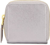 Neiman Marcus Leather Contact Case, Pewter