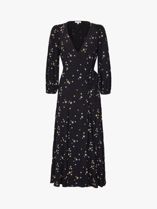 Ghost Emilie Star Print Dress, Black