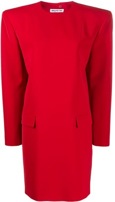 Balenciaga Campaign structured-shoulder dress