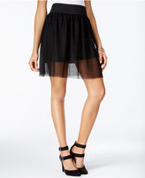 Amy Byer Juniors' Tulle Mesh A-Line Skirt