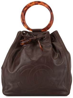 Chanel Pre-Owned structured handles tote bag