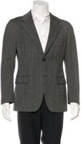Prada Herringbone Tweed Wool Blazer