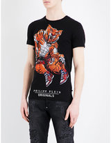 Philipp Plein Tiger-embellished Basketball Cotton T-shirt