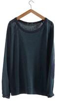 Petit Bateau Womens long-sleeved sweatshirt in heavy jersey two-colored linen