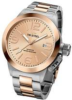 TW Steel 'Canteen' Quartz Gold and Stainless Watch