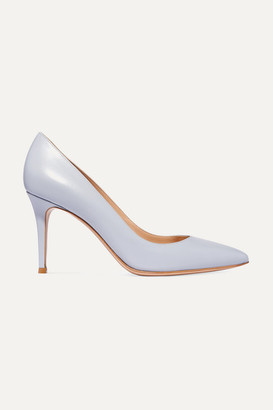 Gianvito Rossi 85 Leather Pumps - Sky blue