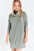Silence & Noise Silence + Noise Washed Turtleneck Sweatshirt Mini Dress