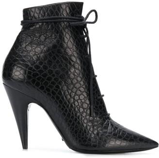 Saint Laurent Sunset lace-up leather boots