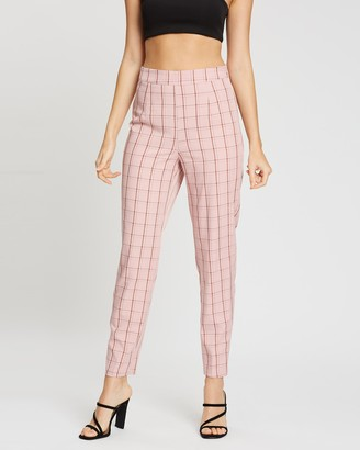 Missguided Check Cigarette Trousers
