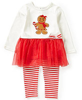Starting Out Baby Girls 12-24 Months Christmas Gingerbread Girl-Appliqued Tunic and Leggings Set