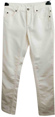Louis Vuitton White Cotton Jeans