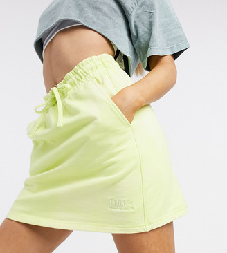 Puma heavy classsic mini skirt in lime - exclusive to ASOS