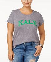 Sub Urban Riot Trendy Plus Size Kale Graphic T-Shirt