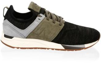 New Balance 247 Nubuck Knit Sneakers