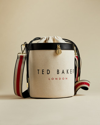 Ted Baker JETTIA Canvas padlock detail bucket bag