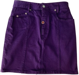 N. Non Signé / Unsigned Non Signe / Unsigned \N Purple Denim - Jeans Skirts