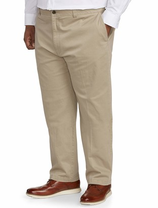Amazon Essentials Men's Big & Tall Relaxed-fit Casual Stretch Khaki Pant fit by DXL