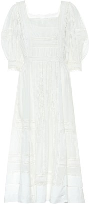 Polo Ralph Lauren Exclusive to Mytheresa Lace-trimmed midi dress