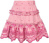 Alexis gingham skirt with embroidered design