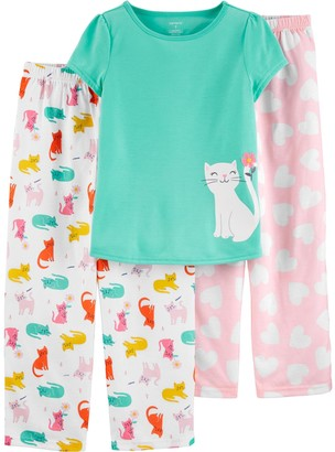 Carter's Girls 4-14 Top and Two Pajama Pants Comfy Pattern Set