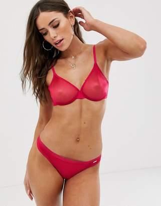 Gossard glossies sheer bra-Pink