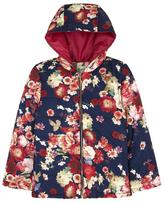 Yumi Oil Painted Floral Padded Jacket Navy
