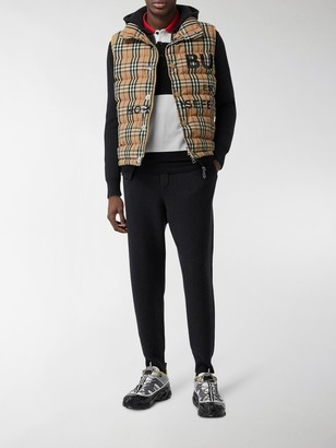 Burberry Vintage Check puffer gillet