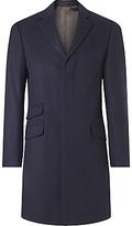John Lewis Pure Cashmere Epsom Overcoat, Navy