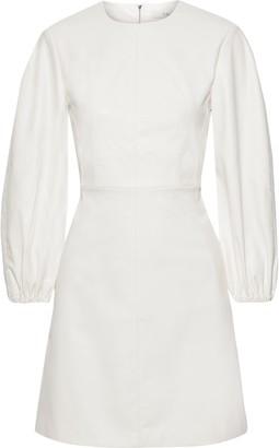 Tibi Faux Leather Mini Dress