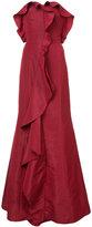 Oscar de la Renta ruffle flared gown - women - Silk - 8