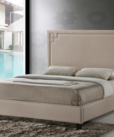 Baxton Studio Beige Heidi Modern Upholstered Platform Bed