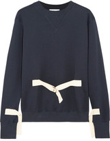 J.W.Anderson Canvas-trimmed Cotton-jersey Sweatshirt - Navy