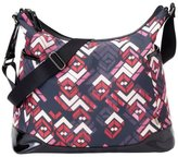 OiOi Rose Chevron/Patent Trim Hobo
