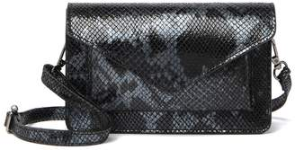 Persaman New York Jasmine Python Print Saddle Bag