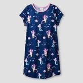 Nite Nite Munki Munki Girls' Nightgowns Short Sleeve Navy
