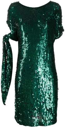 P.A.R.O.S.H. sequined tied-sleeve dress